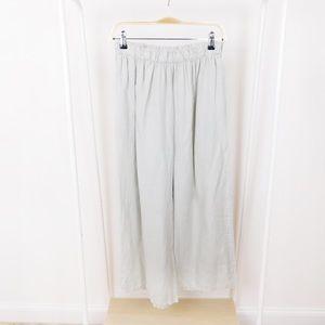 Bryn Walker Seafoam Green Linen Wide Leg Pants